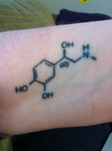 adrenaline tattoos 9 stylish chemistry tattoos for and