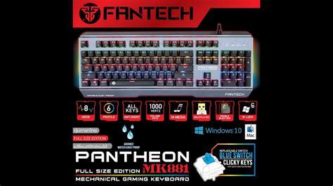 fantech pantheon เทน ำลงค ย บอร ด fantech pantheon mechanical keyboard