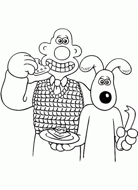 Wallace And Gromit Pictures Coloring Home And The Tr Coloring Page