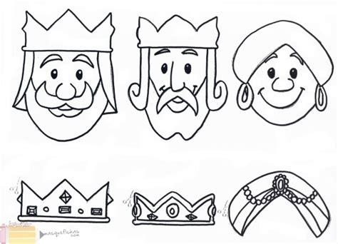 imagenes de reyes magos faciles dibujos de melchor gaspar y baltasar para colorear tres