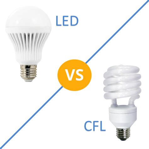 Compare Led Cfl Light Bulbs Better Lighting Differences Which Is Better Cfl Or Led Light Bulbs