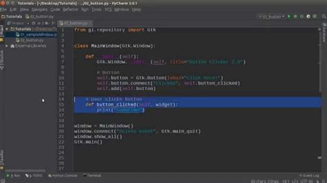 tutorial python gtk python gui development with gtk 3 tutorial 2 buttons