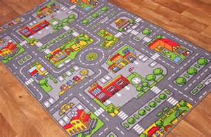 road rugs for cars kid s city play mat town cars play road rug ebay