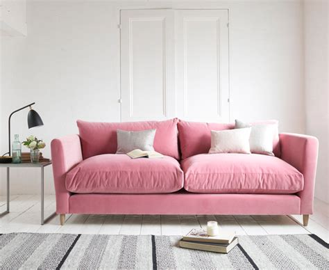 Dusty Pink Living Room by Flopster Sofa In Dusty Clever Velvet