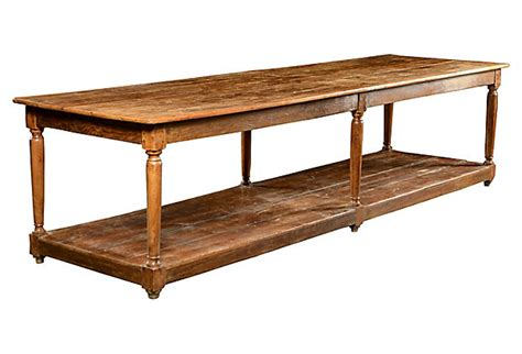 Antique Kitchen Work Tables Antique Cherry Oak And Pine Kitchen Work Table Mecox Gardens