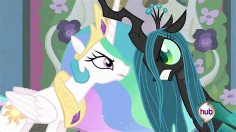 canterlot wedding celestia fights queen chrysalis