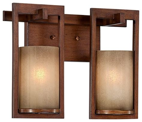 Arts And Crafts Bathroom Lighting Arts And Crafts Mission Bronze Copper Scavo Glass 13 3 4 Quot Wide Bath Fixtu Modern Bathroom
