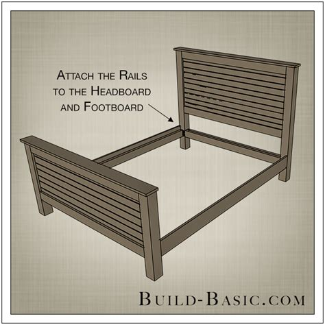 How To Attach A Footboard To A Bed Frame Build A Diy Beadboard Bed Build Basic