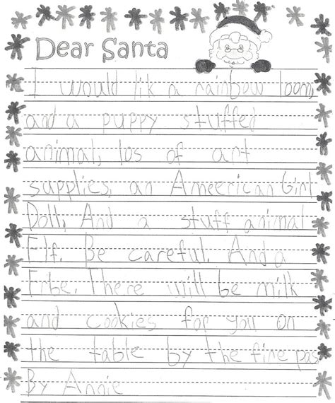 letter to santa template for 1st grade letters to santa from local first graders four points news