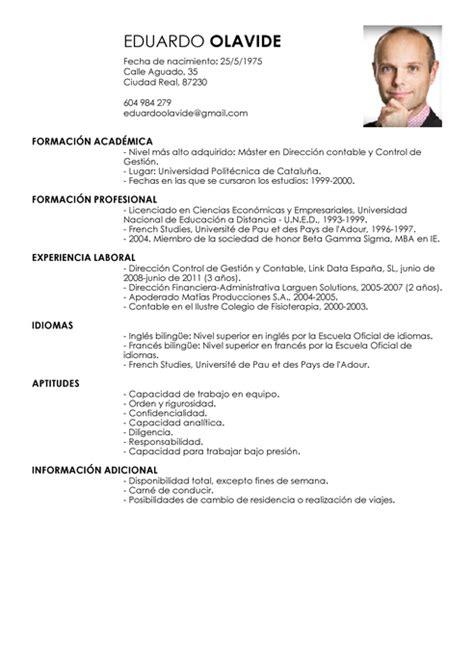 Modelo Curriculum Administrativo Contable Modelo De Curriculum Vitae Ingles Modelo De Curriculum Vitae