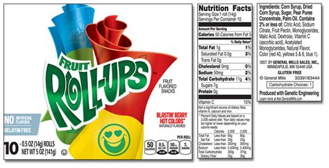fruit roll up calories fruit snacks product list