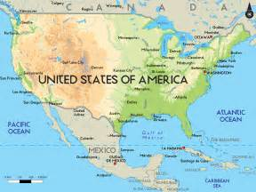 geographical map of the united states of america etats unis carte