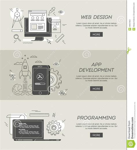 app design and development banners for web design app development and programming