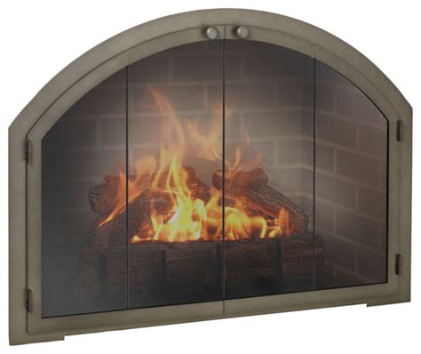 legend arch fireplace glass door custom product