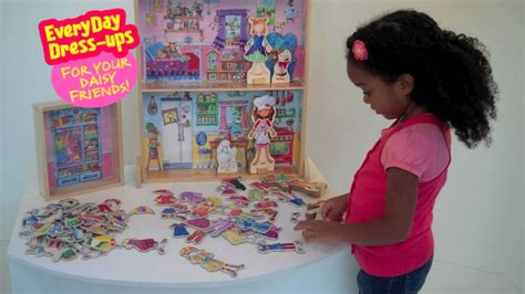 dress up doll house shure daisy girls magnetic doll wooden dress up dollhouse youtube