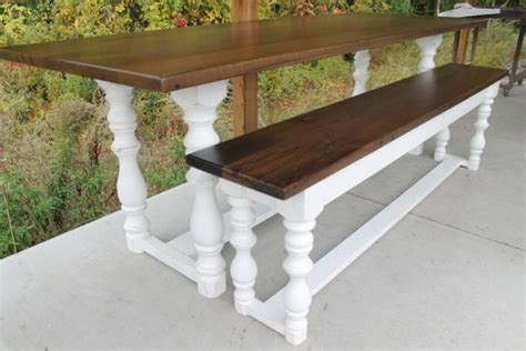 wooden island bench farmhouse benches
