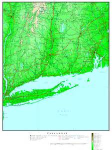 elevation map of connecticut elevation map