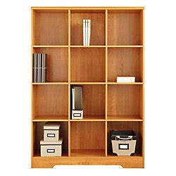 realspace magellan 12 cube bookcase honey maple by office