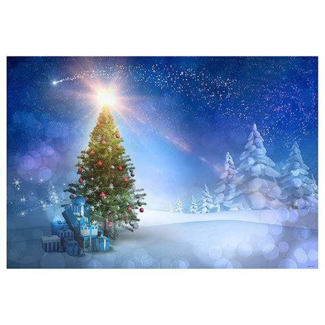 Kostenlose Vorlage Kündigung Sky 7x5ft Blauen Himmel Weihnachten Fotografie Hintergrund Schnee Weihnachtsbaum Glitter