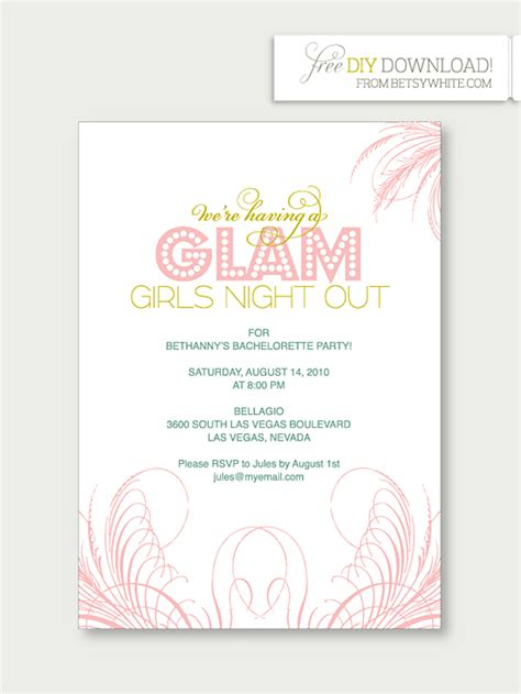 hens party invites template best template collection