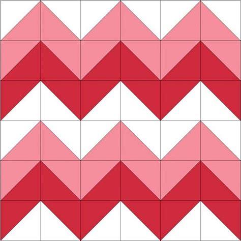 Chevron Quilt Block Pattern by Chevron Block