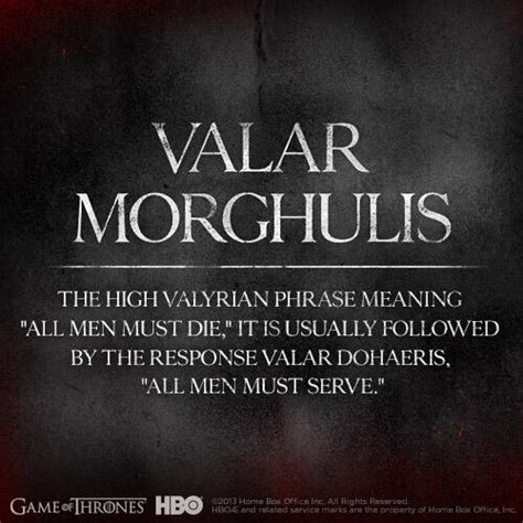 of thrones valar morghulis hbo has released 18 of thrones character posters