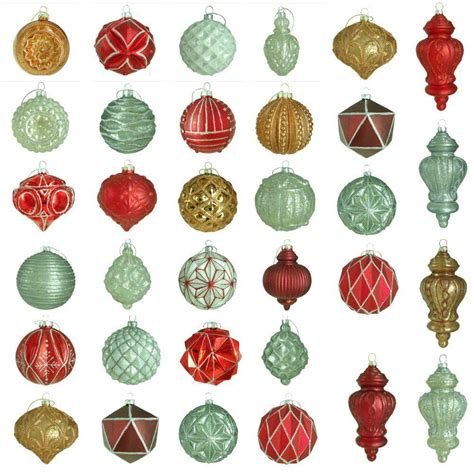 fifty shades xmas tree ornaments martha stewart living winter tidings glass ornament set 50 count hegl25wt the home depot