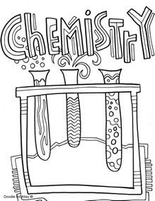 Chemistry Coloring Pages subject cover pages coloring pages classroom doodles