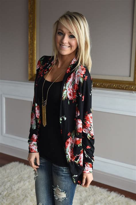 Jaket Sweater Flower Sweater Casual nights in barbados cardigan the pulse boutique