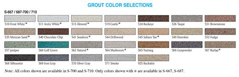 sanded grout colors summitville tiles
