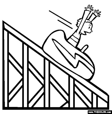 Paper Roller Coaster Coloring Pages Roller Coaster Template
