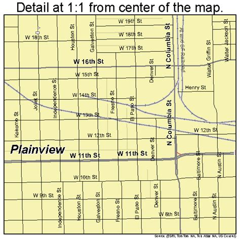 map of plainview texas plainview texas map 4857980