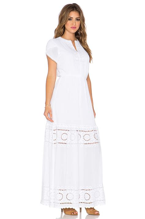 Tier Maxi Dress lyst harlyn tiered maxi dress in white