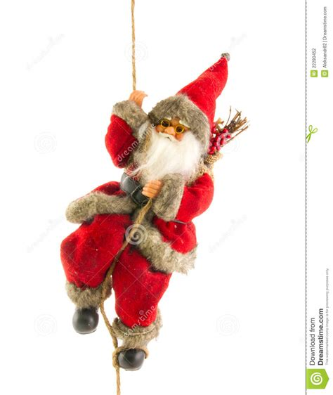 santa claus on rope stock photography image 22280452