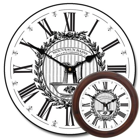 decorative bathroom wall clocks decorative bathroom wall clocks black and white wall clock