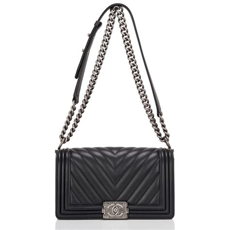 Ff Chanel Chevron Medium chanel boy bag black chevron medium world s best