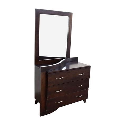 second hand dresser with mirror 60 off unique curved 3 drawer dresser with mirror storage