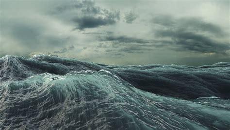 rough sea seamless loop big stock footage video