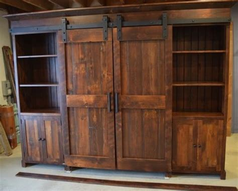 Barn Door Cabinets Barn Door Entertainment Cabinets