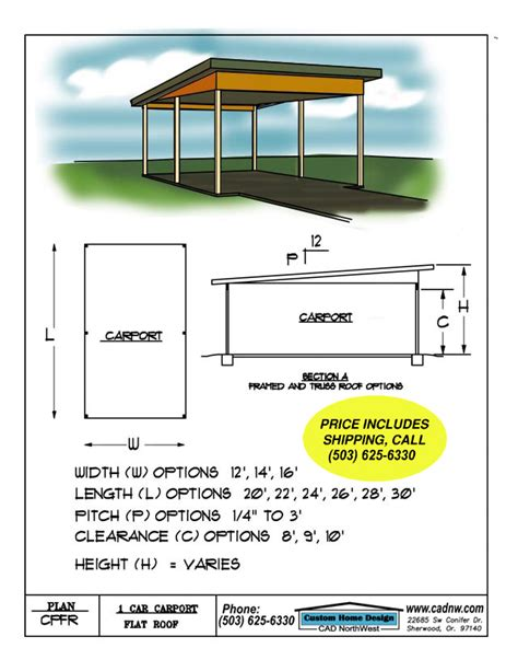 flat roof plan diy plans carport plans flat roof pdf download carport