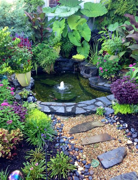 backyard water garden beautiful outdoor water garden koi pond ideas pinterest