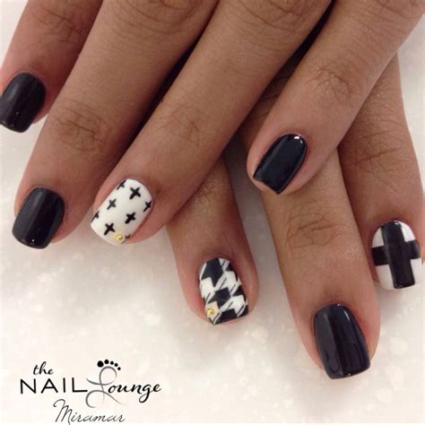 how to do matte gel nails black white gold stud matte gel nail nails