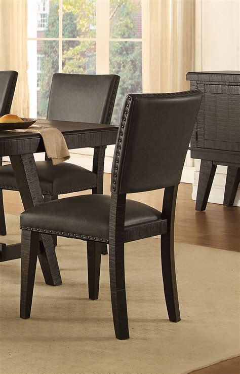 fenwicks bedroom furniture homelegance fenwick side chair dark gray 5480s