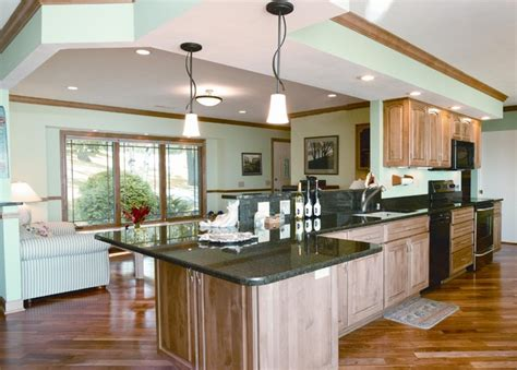 tri level home kitchen design lake kegonsa tri level remodel traditional kitchen