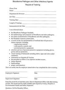 Bloodborne Pathogens Policy Template by Establishment A Resource Management Program For