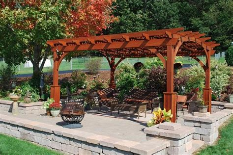 Garden Arch Kijiji Hearthside Wood Pergola With Superior Posts And Lattice