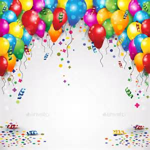 Balloons and confetti bing images