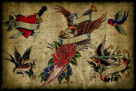 old school traditional tattoos tatoos flash wallpaper