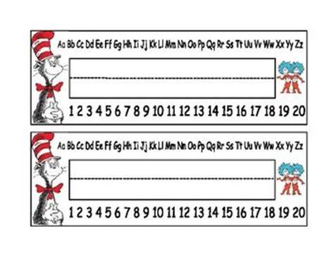 Dr Seuss Student Desk Name Plates Dr Seuss Themed Student Desk Name Plates