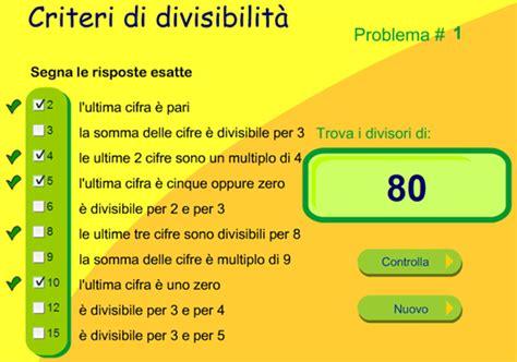 test per dislessici matematica criteri di divisibilit 224 applicazioni dsa